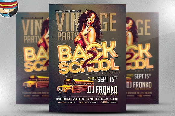 Vintage Back To School Template