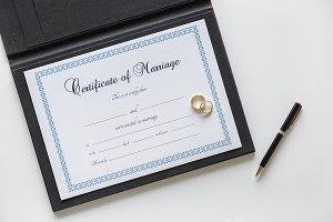 Certification of marriage