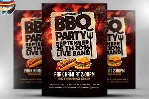 BBQ Party Flyer Template V2