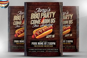 Tony's BBQ Party Flyer Template