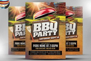BBQ Party Flyer Template V3