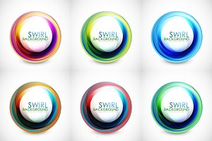 Swirl backgrounds set