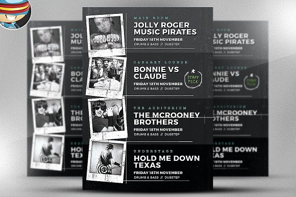 Indie Club Line Up Flyer Template