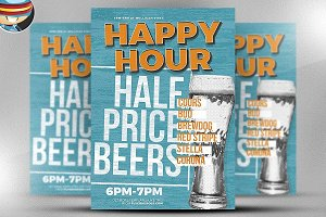 Happy Hour Flyer Template 2