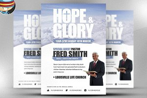 Hope And Glory Flyer Template
