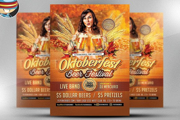 Oktoberfest Beer Flyer Template