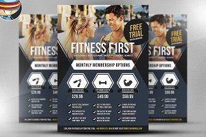 Fitness First Flyer Template