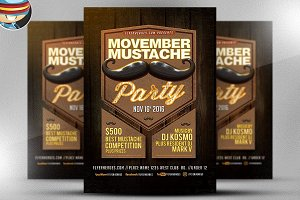 Classy Acts Movember Party Flyer