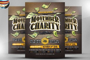 Movember Charity Flyer Template