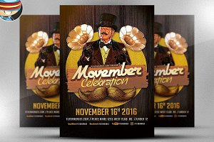 Movember Celebration Flyer Template