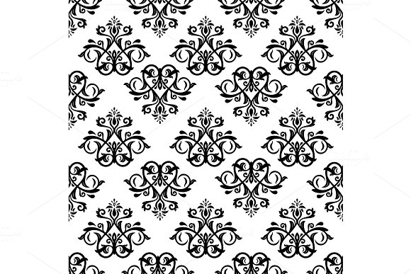 Orient Seamless Vector Pattern Abstract Background
