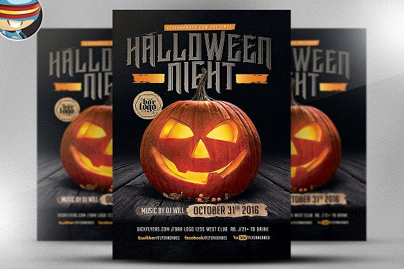 Pumpkin Halloween Night Flyer
