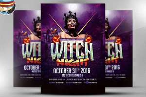 Witch Night Flyer Template