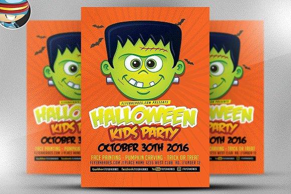 Toon Halloween Kids Party Flyer