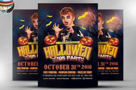 Halloween Kids Party Template