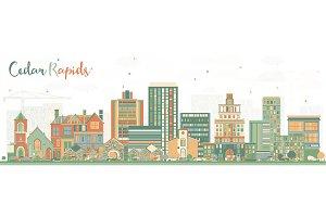 Cedar Rapids Iowa Skyline