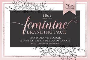 Feminine Logo & Branding Pack