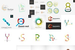 Logo collection, geometric icons