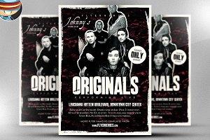 Originals Indie Band Flyer Template