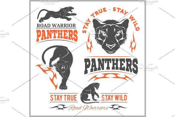 Black Panther Head Mockup Template Animal Symbol Logo Emblem Or Sticker For Branding Printing Sports Team