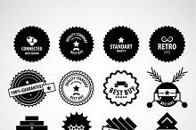 Retro vector labels