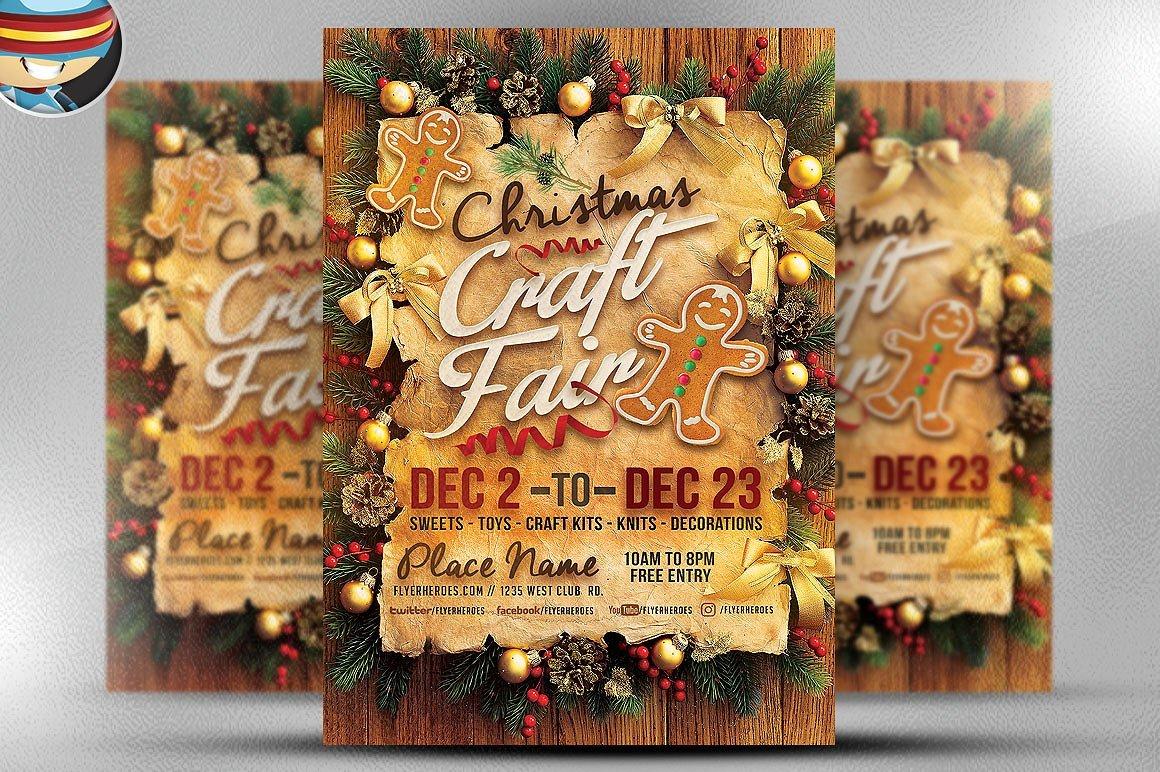 Christmas Craft Fair Flyer Template ~ Flyer Templates ~ Creative Market