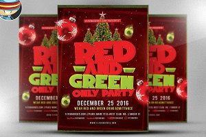 Red and Green Flyer Template
