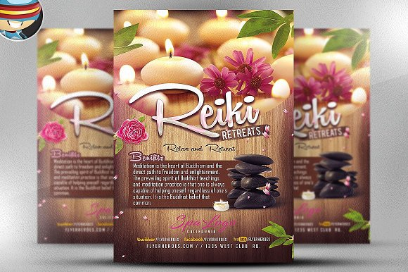 Relax And Retreat SPA Flyer Template