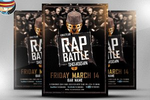 Rap Battle Showdown Flyer Template