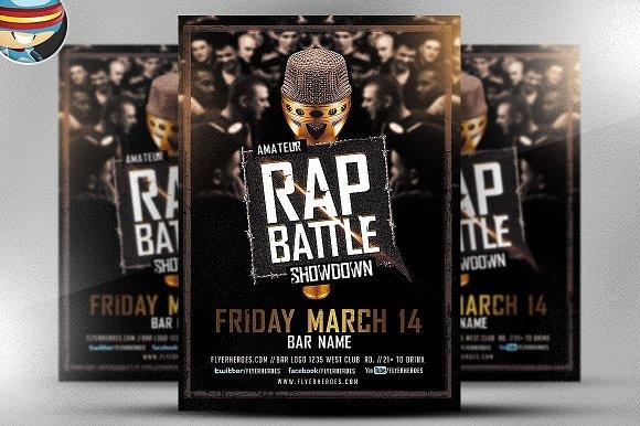 Rap Battle Showdown Flyer Template ~ Flyer Templates ~ Creative Market