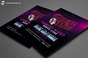 Open Mic Comedy Night Flyer Template