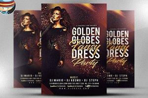 Golden Globe Fancy Flyer Template