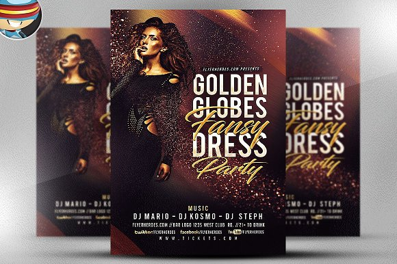 golden globe fancy flyer template flyer templates creative daddy
