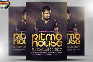 Ritmo House DJ Flyer Template