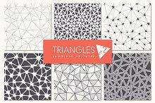 Triangles. Seamless Patterns. Set 2