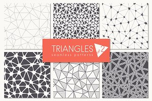 Triangles. Seamless Patterns. Set 2
