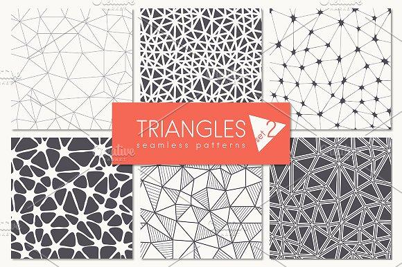 Triangles. Seamless Patterns. Set 2 - Patterns