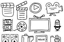 Movie icon doodles