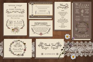 Wildflower Wedding Invitation Suite