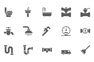 Plumbing and Sanitary Equipment Icon