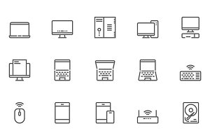 Computers Line Icons
