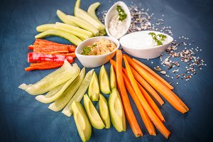 Fresh vegetable snacks