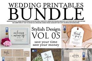 Wedding Printables Bundle Style. 5