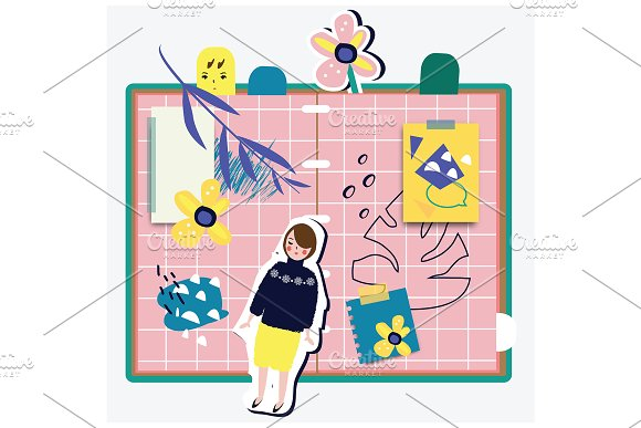 Abstract Notebook With Girl
