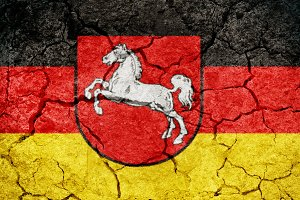Lower Saxony, state of Germany, flag