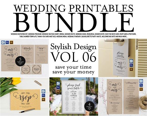 Wedding Printables Bundle Style 6