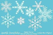 Sparkle Snowflake Clip Art