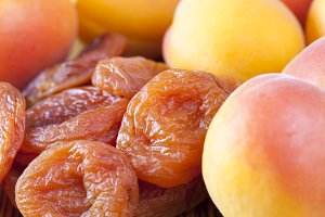 very dried apricots