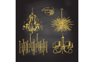 chandelier lamp lighting decor