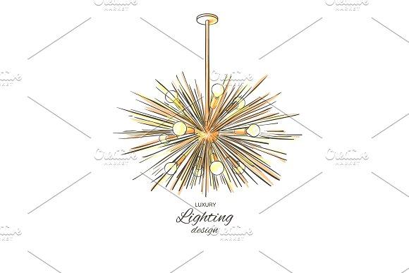 Modern Golden Lamp